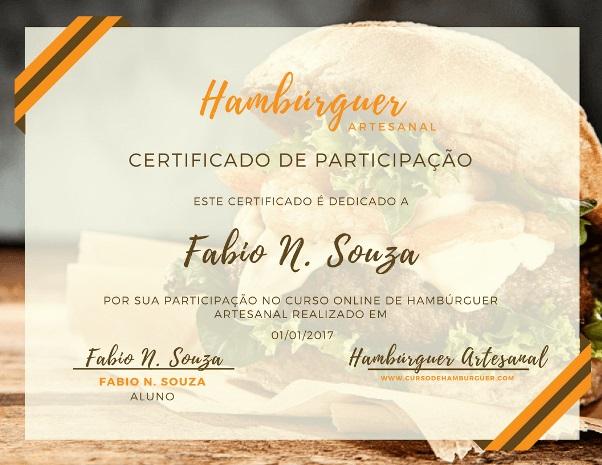 curso de hamburguer artesanal com certificado